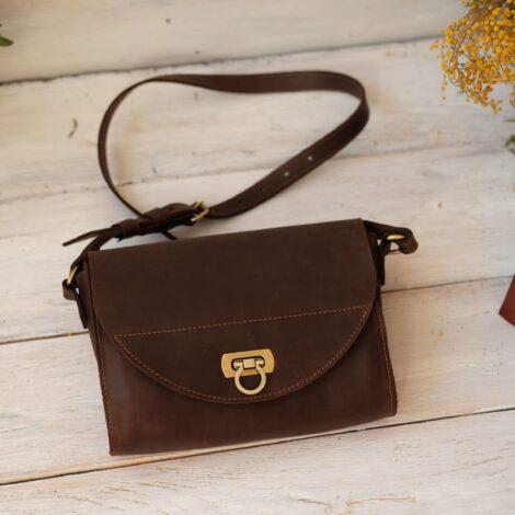 темно коричневая сумка