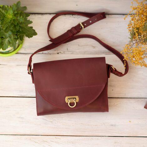 сумка женская бордо