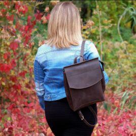 crazy horse рюкзак женский шоколадный