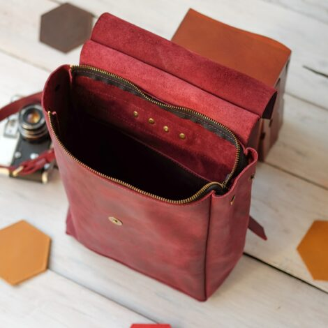 кожаный женский рюкзачок