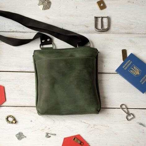 мужская зеленая сумка