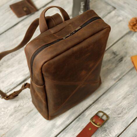 кожаный рюкзак
