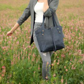 синяя сумочка