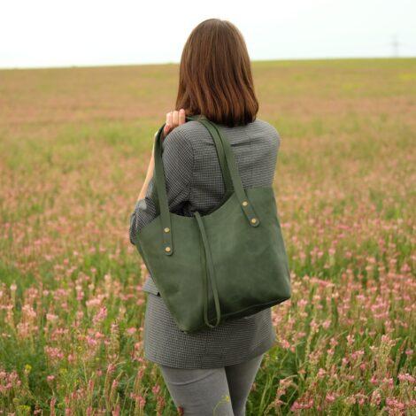 зеленая сумочка