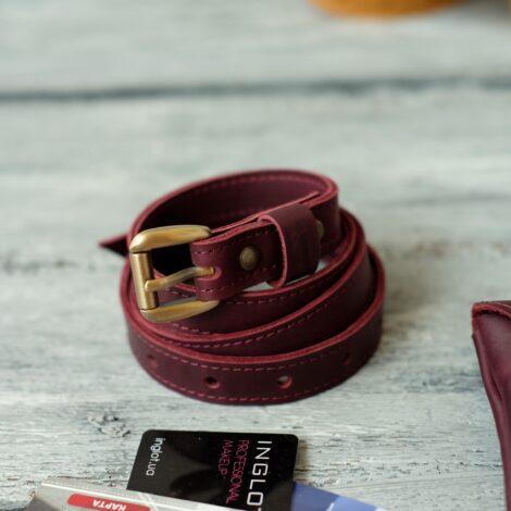 кожаный ремень с сумской