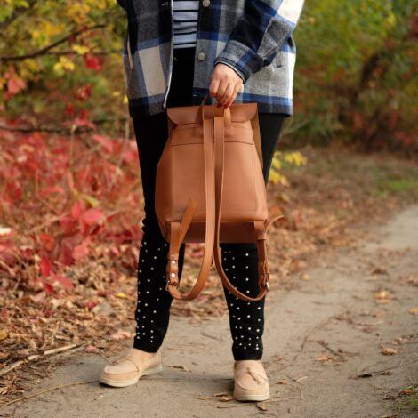 кожаный рюкзачек