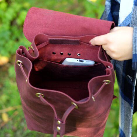 вишневый рюкзак