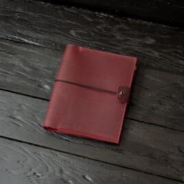бордовый кожаный блокнот