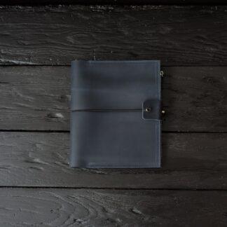 синяя кожаный блокнот