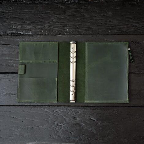 женский зеленый блокнот